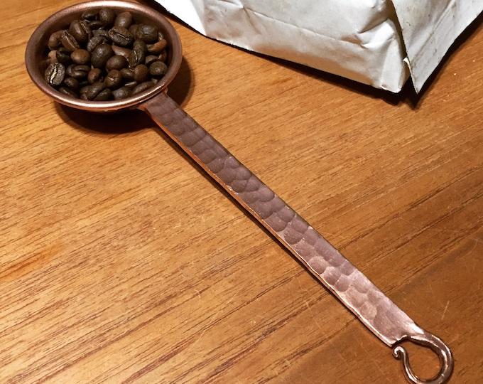 Hammered copper 1oz coffee scoop measuring spoon