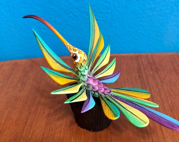 Alebrije Hummingbird with stand by Roberto and Esperanza Martinez