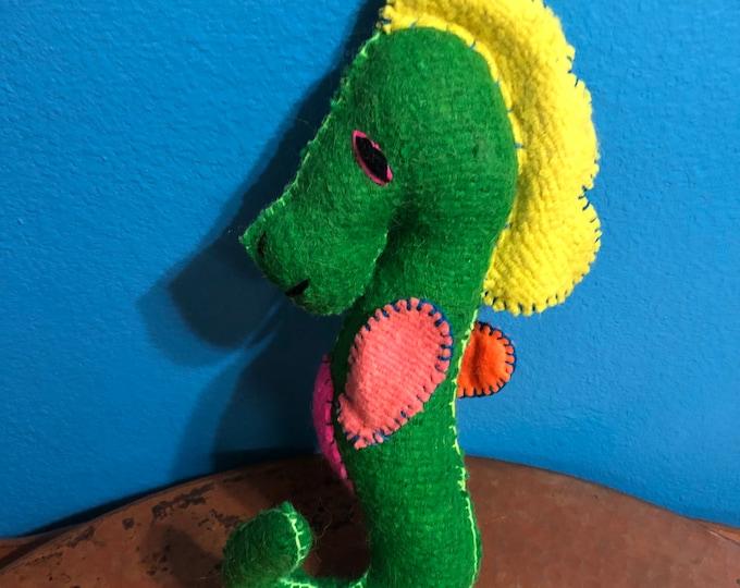 Hand Sewn Stuffed Animal Seahorse Plush Toy