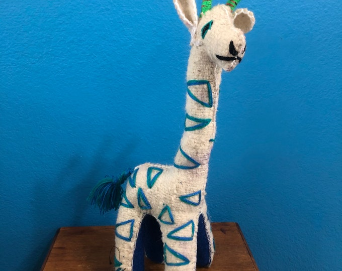 Hand Sewn Stuffed Animal Giraffe Plush Toy