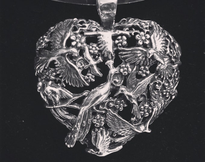 Sterling Silver Milagro Heart Pendant