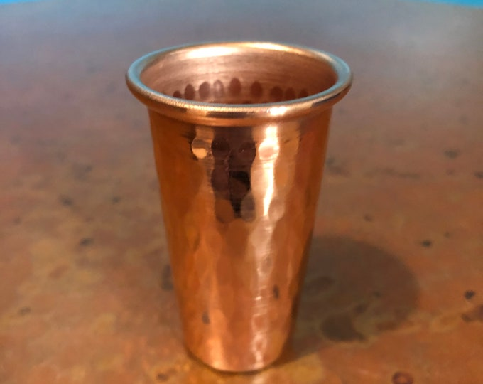 1.5oz Pure Hammered Copper Shot Glass