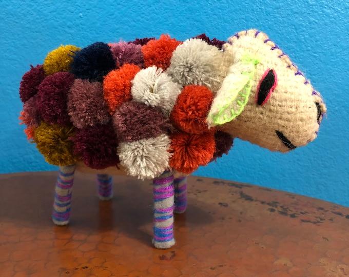Hand Sewn Stuffed Animal Sheep Plush Toy