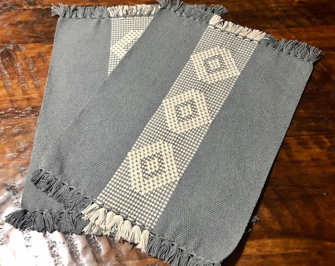 "Handwoven Zapotec cotton placemats - (set of 2) - approx. 18"" x 14"" (w x h)"