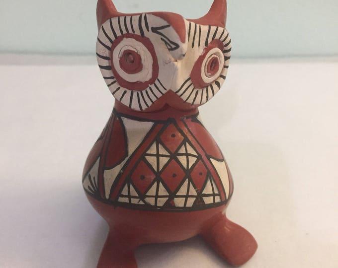 Mata Ortiz Owl Effigy by Marta Gonzalez Rodriguez