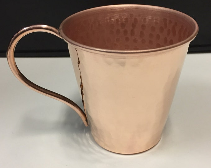 14oz Moscow Mule Hammered Copper Mug, tapered