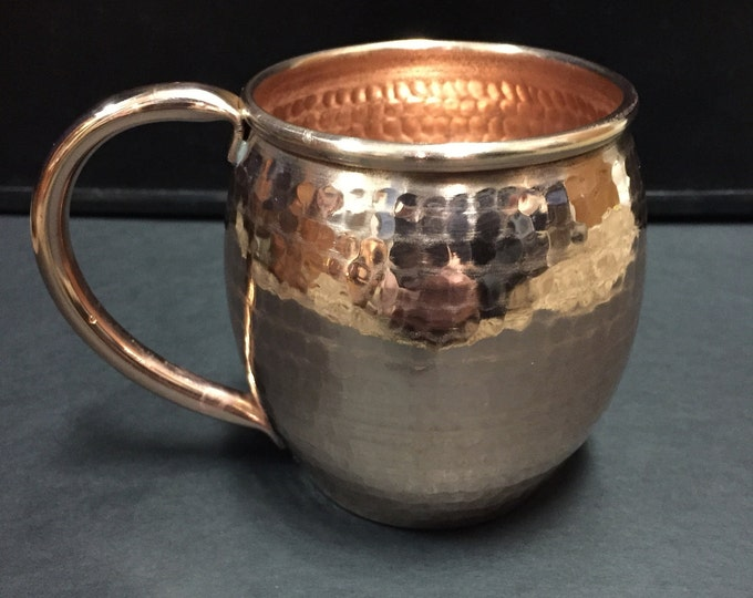 13oz Moscow Mule Hammered Copper Barrel Mug