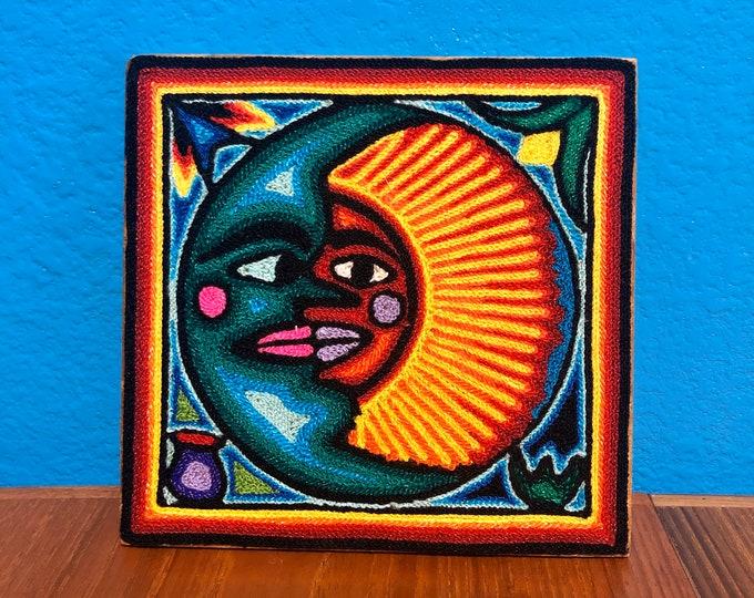 "Huichol Yarn Art 6"" x 6"" - Sacred Symbols from Nayarit, Mexico"