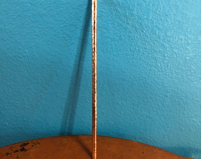 Reusable Hammered Copper Straw - 10 1/2""