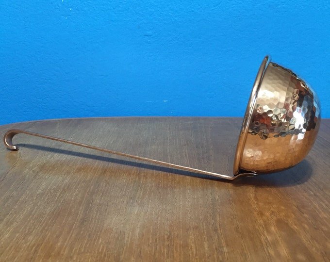 Pure Hammered Copper 8oz Ladle
