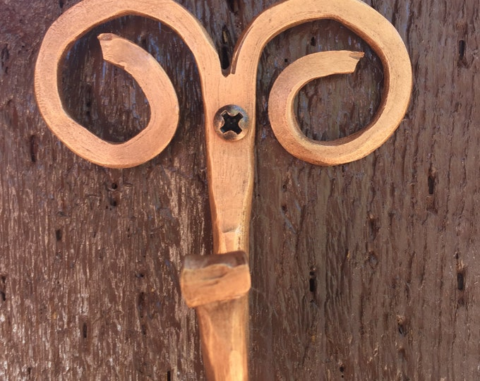 Handcrafted Pure Copper Wall Hook / Decorative Coat Hooks