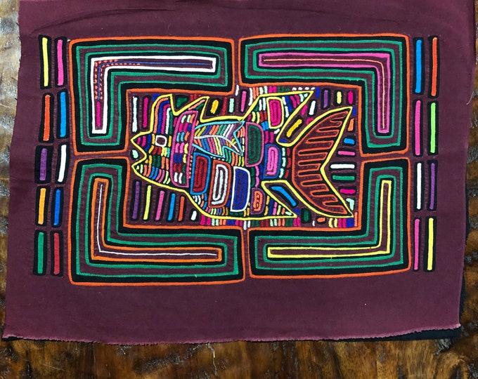 "Hand Stitched Kuna Mola Art (approx. 16.5"" x 12.5"")"