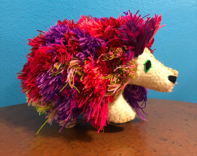 Hand Sewn Stuffed Animal Porcupine Plush Toy