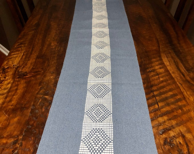 "Handwoven Zapotec cotton table runner / bed runner approx. 72"" x 14"" (l x w)"