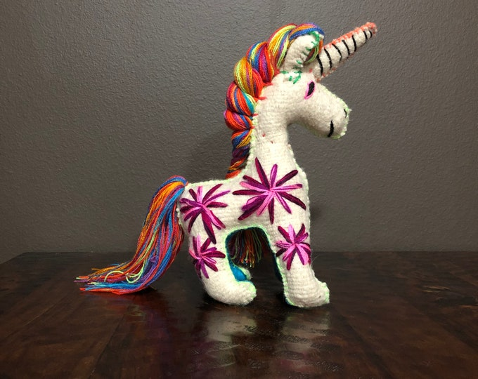 Hand Sewn Stuffed Animal Unicorn Plush Toy