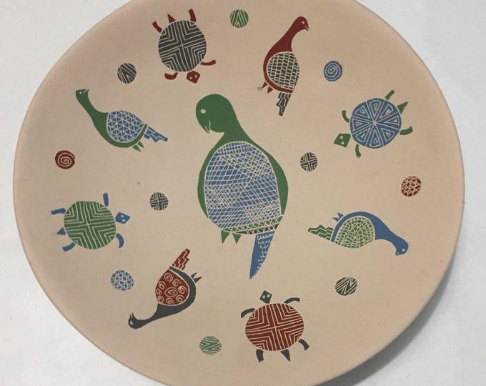 Mata Ortiz Plate by Guadalupe Guillén