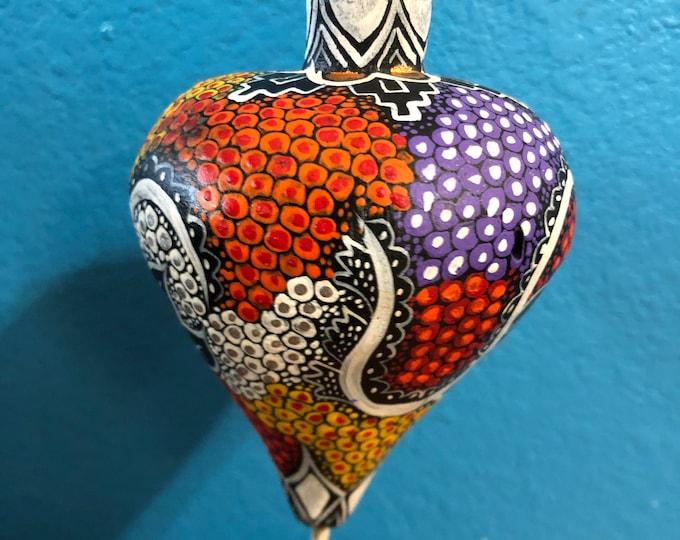 Alebrije Sphere Ornament Wood Carving by Esperanza Martinez from Oaxaca, Mexico.
