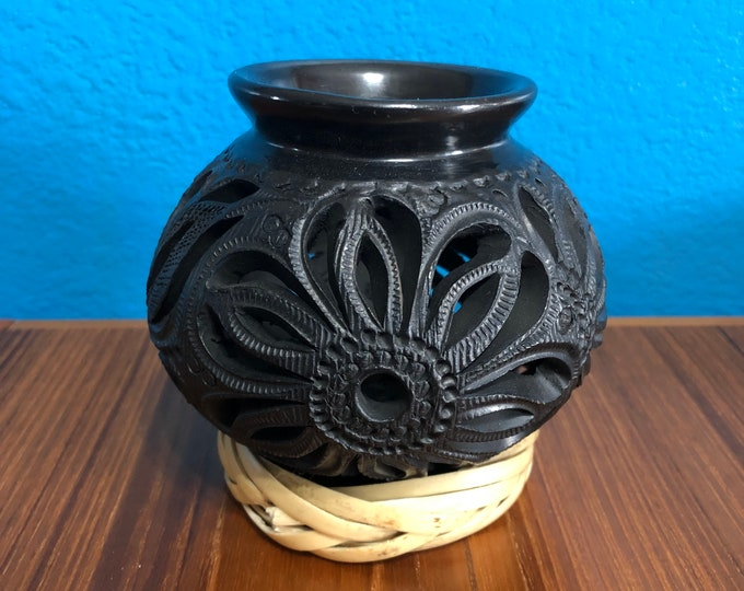 Barro Negro Black Clay Olla Ceramic Pottery