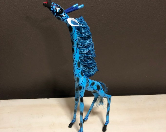 Handcrafted Alebrije Giraffe Woodcarving from Oaxaca, Mexico