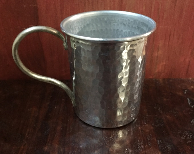 Handcrafted 16oz Hammered Aluminum Mug