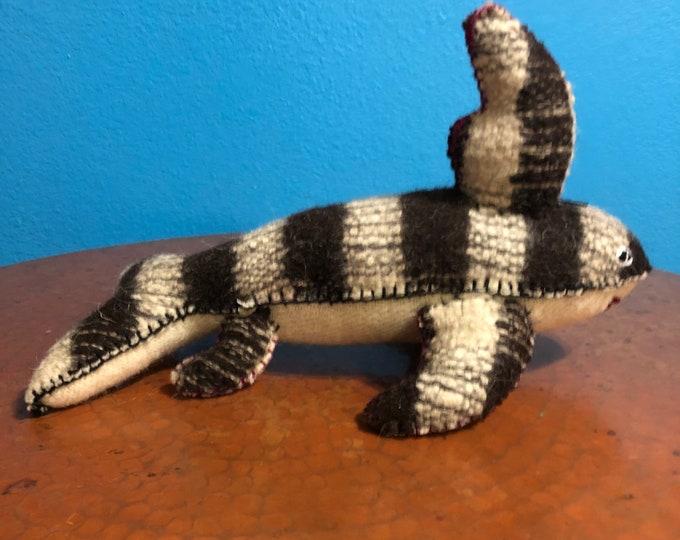 Hand Sewn Stuffed Animal Shark Plush Toy