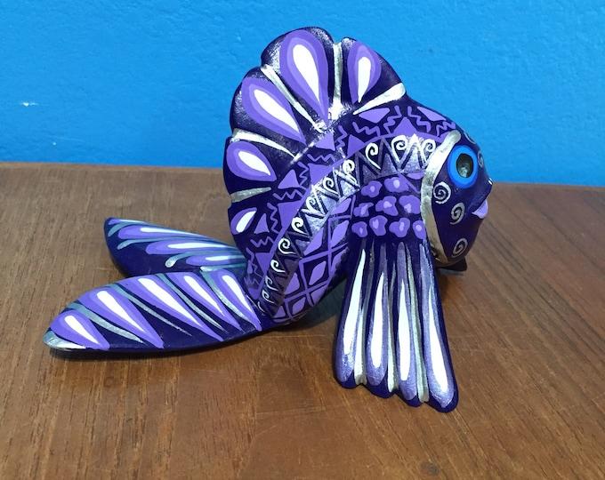 Alebrije Purple Fish by Zeny Fuentes
