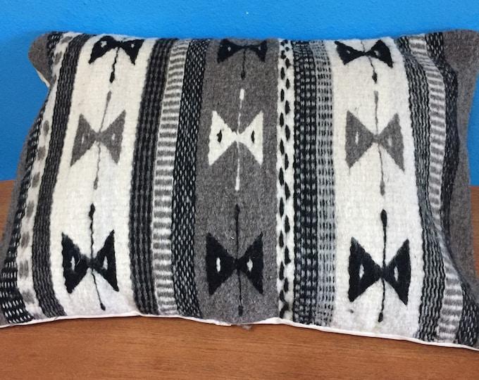 """Zapotec hand woven merino wool pillow sham 14"""" x 18"""""""