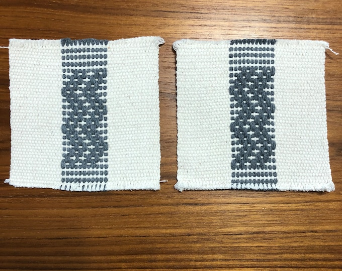 "Handwoven Zapotec cotton coasters (set of two) - 5"" x 5"""