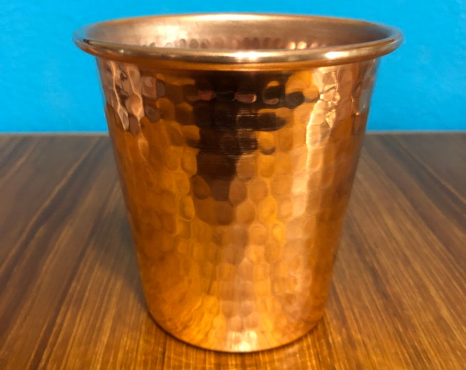 18oz Pure Hammered Copper Tumbler Water Cup