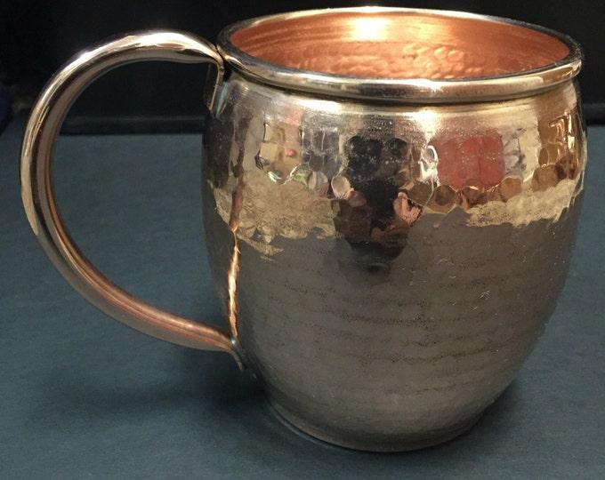 16oz Moscow Mule Hammered Copper Barrel Mug