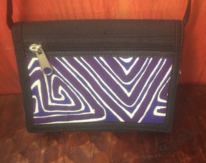 Kuna Mola Art Design Crossbody Phone Purse Handbag Handcrafted in Colombia