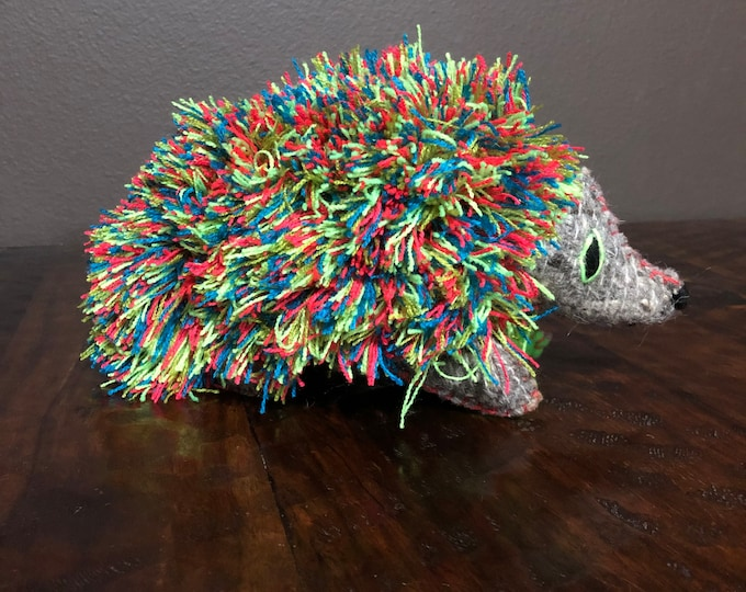 Hand Sewn Stuffed Animal Porcupine Plush Toy