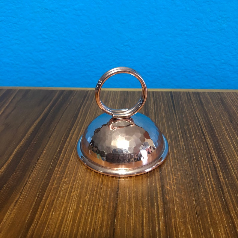 Handcrafted Pure Copper Ring Clip Place Card Holder
