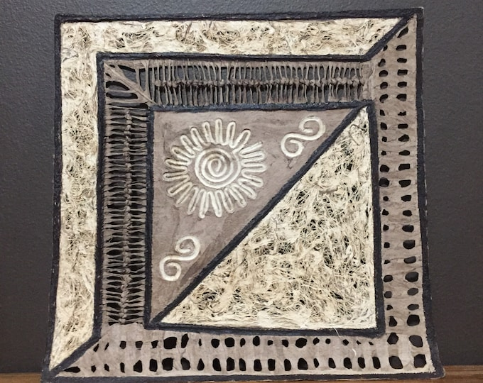 Amate Bark Paper Wall Art with Sun Design
