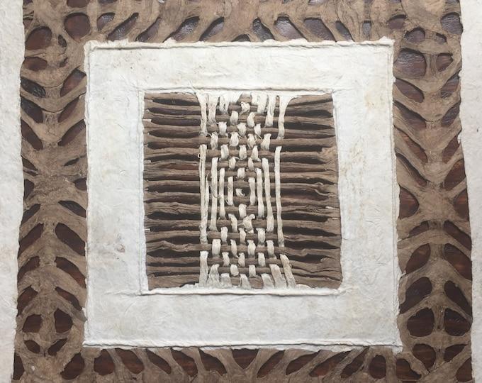 "Amate Bark Paper Wall Art (11 3/4""x11 3/4"")"