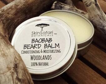 BAOBAB BEARD Balm, nourishing, conditioning, hydrating with African Baobab & Jocoba oils