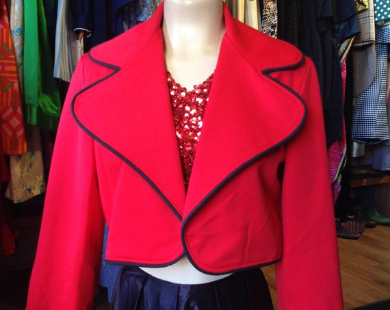 Vintage Gary Norman Cropped Red Blazer