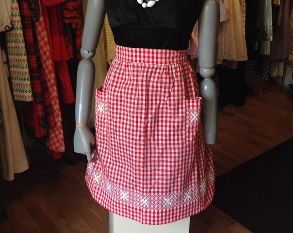 Red Checkered Apron