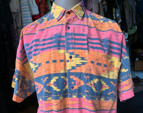 "Vintage ""BLOX"" Button down shirt"