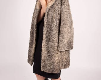 bf908bfa3c9e2 Vintage Persian Lamb Coat with Fur Collar