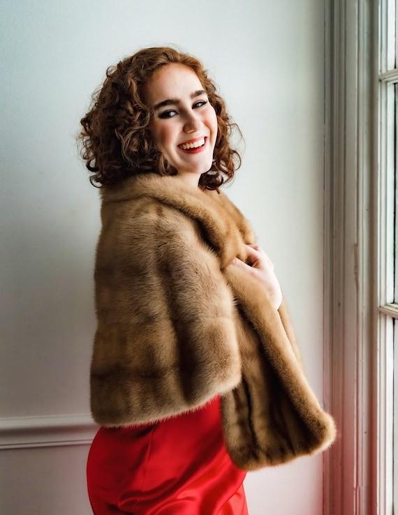 Vintage mink fur wrap