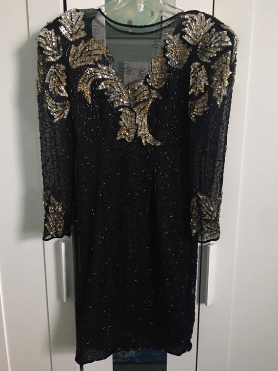 80s sequin scala dress