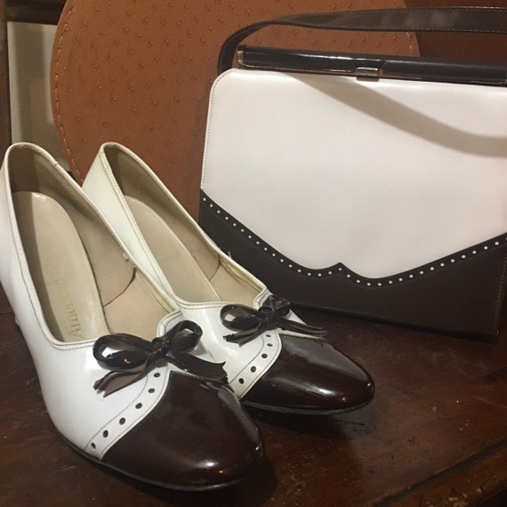 Patent leather purse shoes set