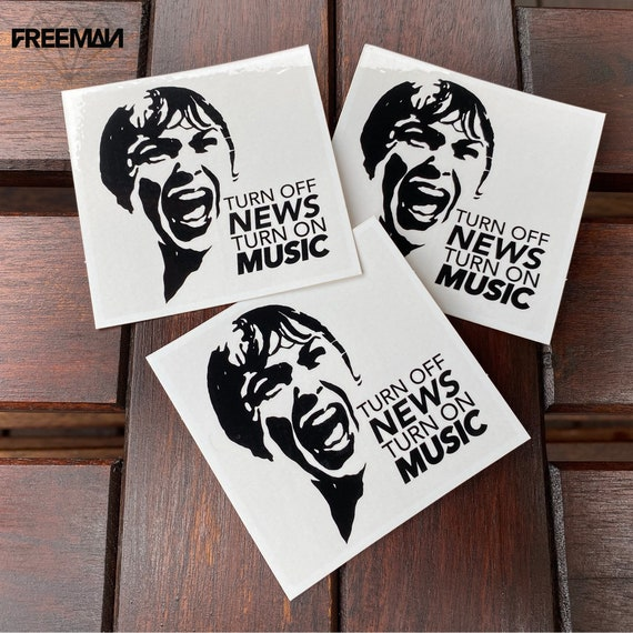 Turn off the news, turn on music sticker packs