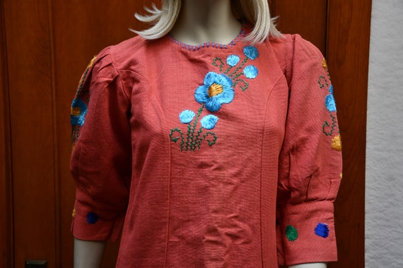 70s boho floral dress
