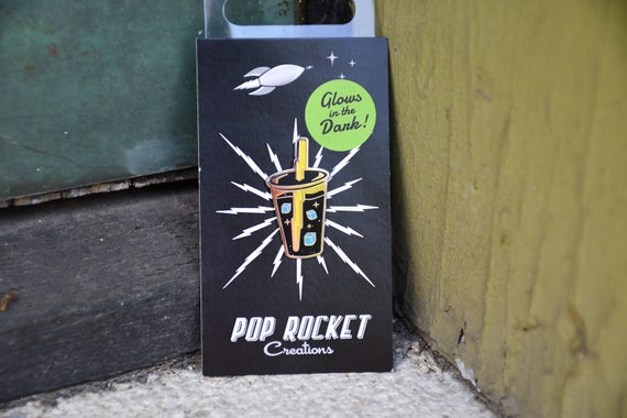 Pop Rocket Creations Soda Drink Enamel Pin