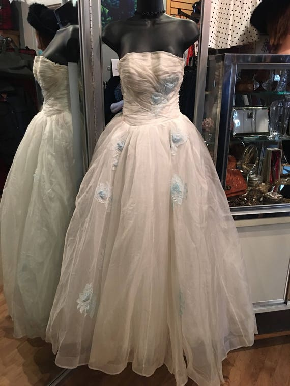 1950s vintage prom dress - image 5