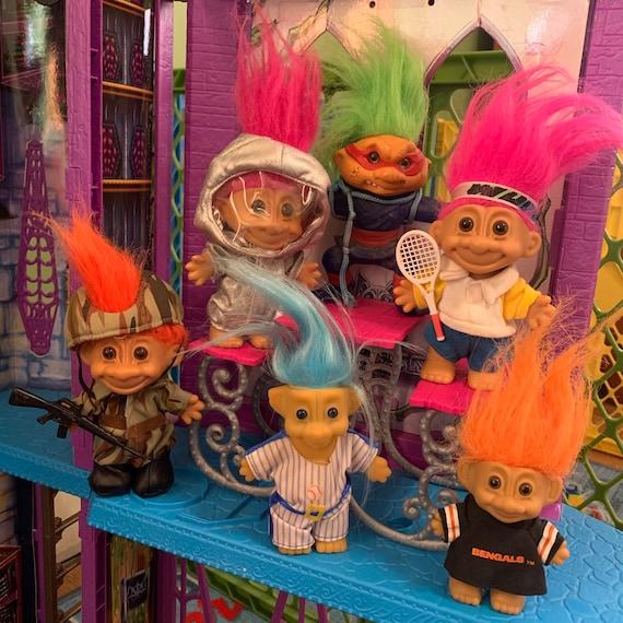 90s vintage troll dolls