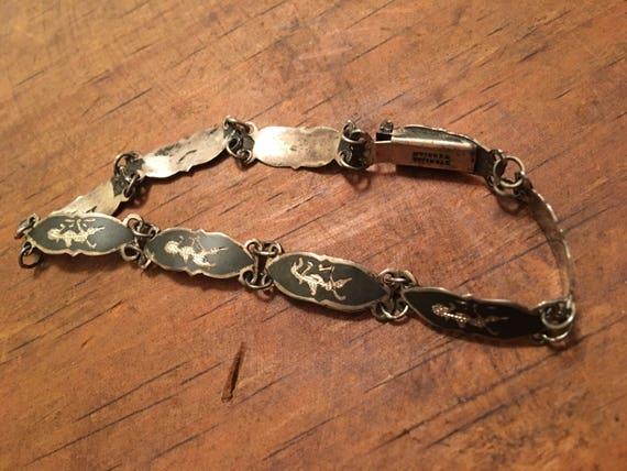 Vintage Siam silver niello bracelet