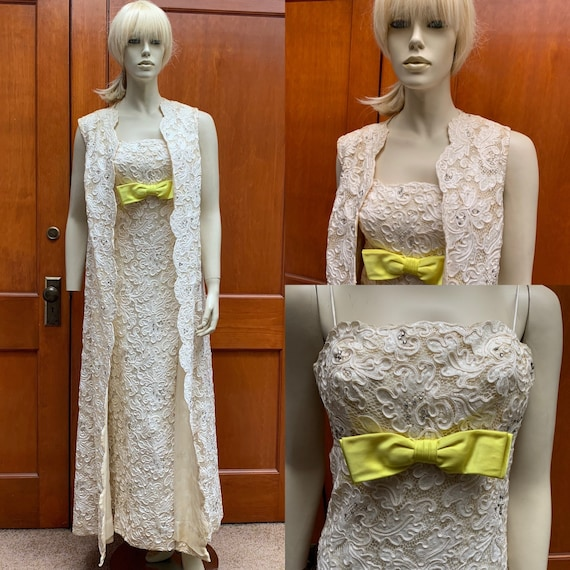 60s formal Victoria Royal Ltd. gown and duster